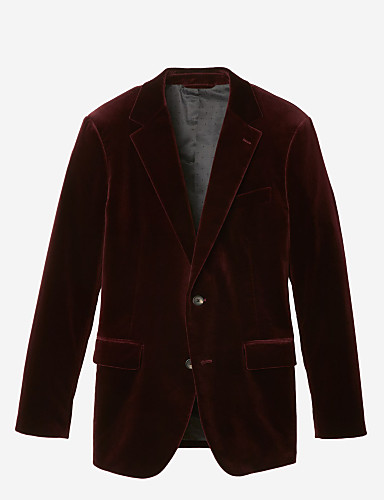 preiswerte Maßanzüge-Anzug aus weinrotem Samt