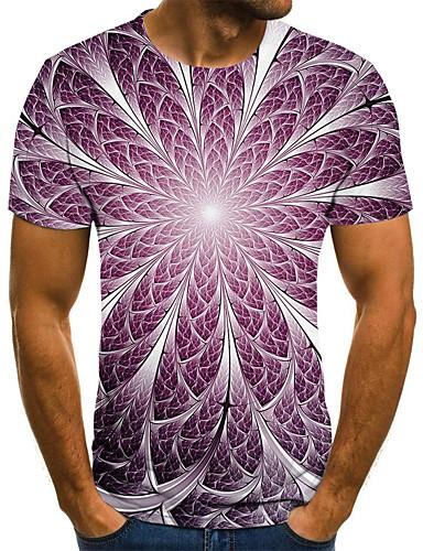 baratos Camisetas Com Estampa 3D-Homens Camiseta Estampado, 3D Roxo