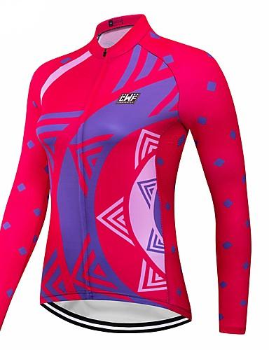 povoljno Odjeća za vožnju biciklom-CAWANFLY Žene Dugih rukava Biciklistička majica Red+Blue Bicikl Biciklistička majica Majice Brdski biciklizam biciklom na cesti Prozračnost Quick dry Sportski Terilen Odjeća / Napredan / Stručnjak
