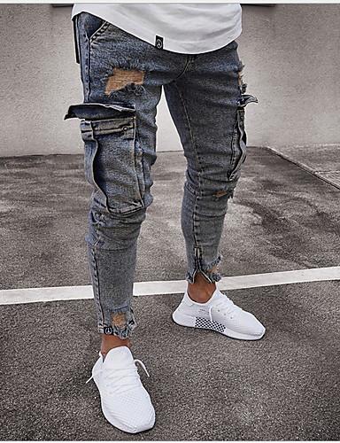 cheap Men's Pants & Shorts-Men's Basic Jogger Pants - Solid Colored / Snake Print Gray US36 / UK36 / EU44 US38 / UK38 / EU46 US40 / UK40 / EU48