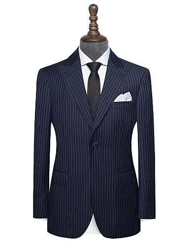 Χαμηλού Κόστους Αντρικά κοστούμια για άντρες-Μπλε ναυτική μπλούζα λωρίδα έθιμο κοστούμι μαλλί