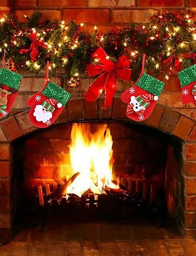 preiswerte Hängende Weihnachtsdekoration-weihnachtsdekoration anhänger spielzeug außerhalb weihnachtsbaum hängen ornament weihnachtsmann schneemann bär handschuhe für wohnkultur kinder gift-4pcs