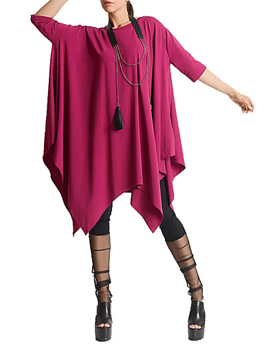 billige Dametopper-T-skjorte Dame - Ensfarget Rød