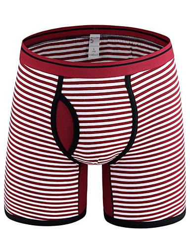 levne Pánské prádlo a plavky-Pánské Základní Boxerky Bavlna Středně vysoký pas