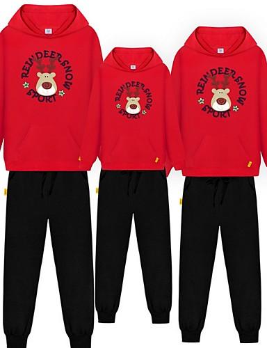 preiswerte PAJAMAJUMPSUITS-Familienblick Tier Weihnachten Kleidungs Set Schwarz