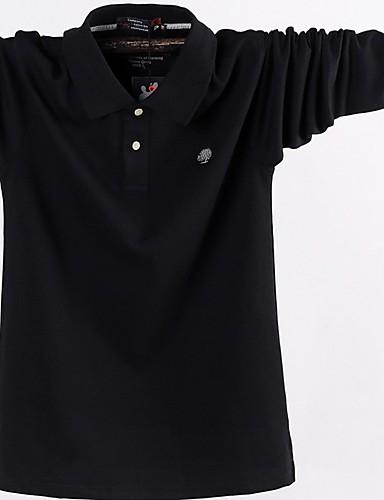 levne Pánská tílka-Pánské - Jednobarevné Tričko Černá