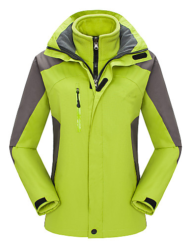 cheap Softshell, Fleece & Hiking Jackets-Women's Hiking 3-in-1 Jackets Hiking Jacket Winter Outdoor Thermal / Warm Waterproof Windproof Breathable Jacket 3-in-1 Jacket Winter Jacket Skiing Camping / Hiking Hunting Purple / Yellow / Red