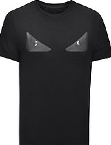 levne Pánská tílka-Pánské - Barevné bloky Tričko Černá
