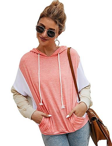 billige T-skjorter til damer-T-skjorte Dame - Fargeblokk Rosa
