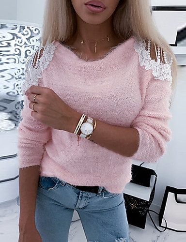 Women's Daily Blouse - Solid Colored Blushing Pink