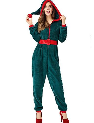billige Jumpsuits og sparkebukser til damer-Dame Grønn Kjeledresser, Ensfarget S M L