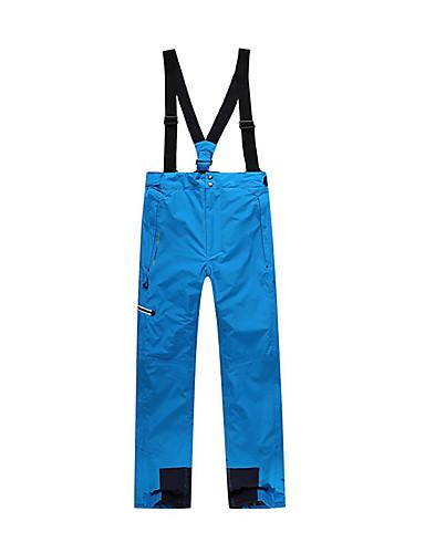 abordables Esquí y Snowboard-Hombre Pantalones de Esquí Esquí Snowboard Deportes de Invierno Mantiene abrigado Impermeable Resistente al Viento Terileno Pantalones de babero Ropa de Esquí