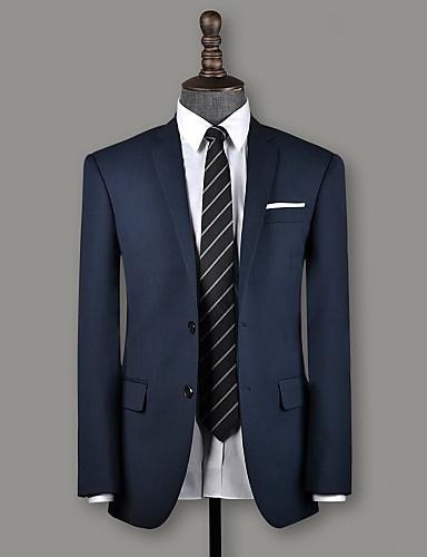 זול חליפות גברים בהתאמה אישית-צפחה בצבע כחול ציפוי ציפורים