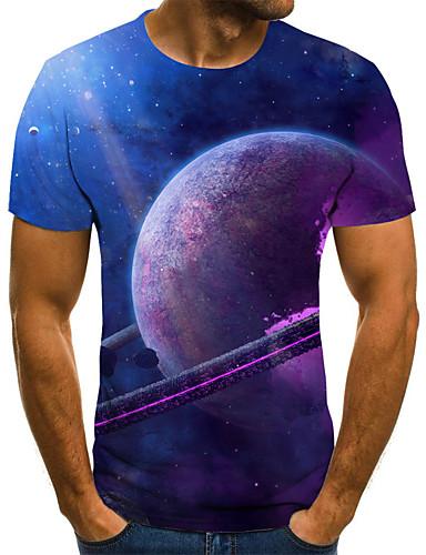 Homens Camiseta 3D / Arco-Íris Roxo