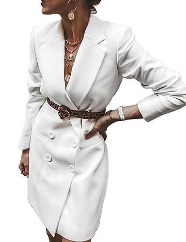 levne Pracovní šaty-Dámské Bodycon Šaty - Jednobarevné Nad kolena