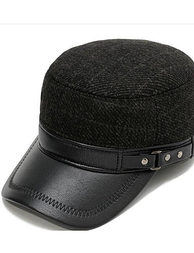 cheap Men's Hats-Men's Basic Polyester Floppy Hat Baseball Cap-Color Block Fall Brown Gray