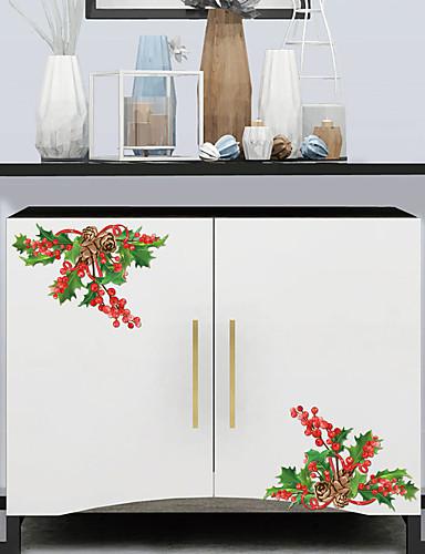 preiswerte Wand-Sticker-Dekorative Wand Sticker - Ferien-Wand-Aufkleber Weihnachten / Blumenmuster / Botanisch Wohnzimmer / Schlafzimmer / Küche