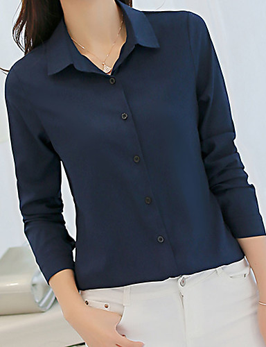 Women's Work Shirt - Solid Colored Wine