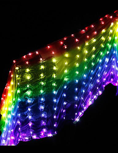 povoljno Plesna oprema-Oprema za ples Žene Seksi blagdanski kostimi 100% svile LED