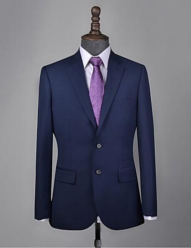 tanie Garnitury męskie na miarę-niebieski garnitur z wełny morskiej