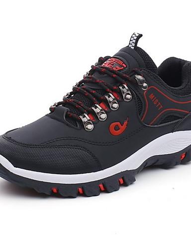 preiswerte Athletische Schuhe für Herren-Herrn Komfort Schuhe PU Herbst Winter Sportschuhe Rennen Schwarz / Armeegrün / Gelb