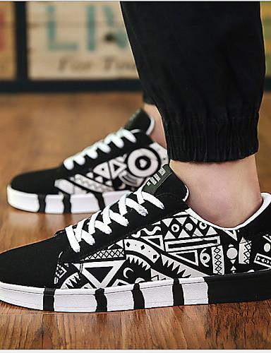 preiswerte Athletische Schuhe für Herren-Herrn Komfort Schuhe PU Winter Sneakers Schwarz / Weiß / Blau