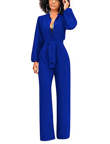 povoljno Ženski jednodijelni kostimi-Žene Crn Obala Navy Plava Jumpsuits, Jednobojni S M L