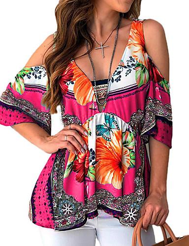 billige Dametopper-T-skjorte Dame - Geometrisk Svart