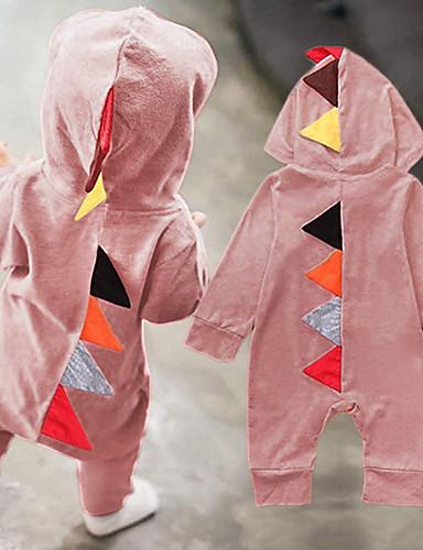 preiswerte Babykleidung Jungen-Baby Jungen Grundlegend Solide Langarm Einzelteil Leicht Blau