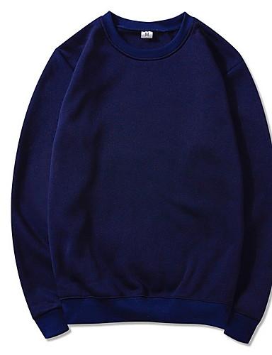 preiswerte Geschnürte Styles Kapuzenpullover & Sweatshirts-Herrn Grundlegend Rundhalsausschnitt Pullover Solide