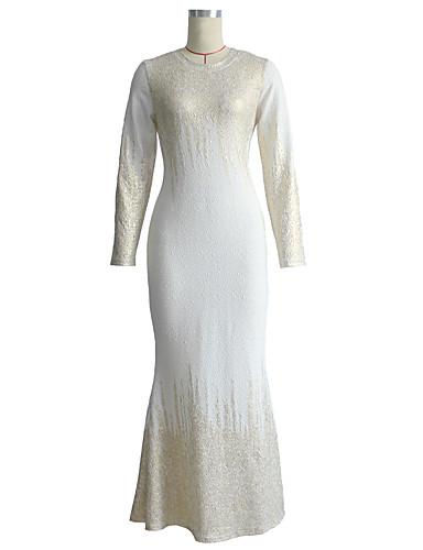 levne Šaty velkých velikostí-Dámské Větší velikosti Základní 1920s Štíhlý Flapper Šaty - Abstraktní Maxi Gatsby