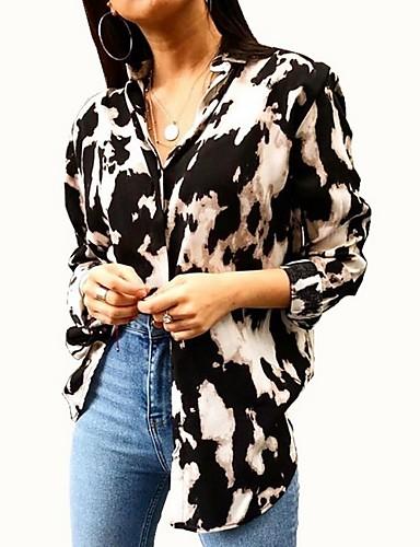 billige Dametopper-Skjorte Dame - Blomstret Lilla