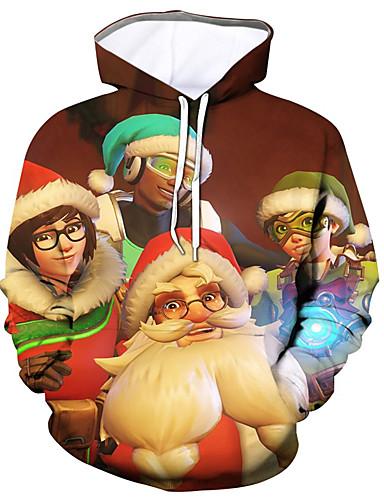 levne Vánoce-Pánské Party / Aktivní Kapuce - Barevné bloky / Jednobarevné