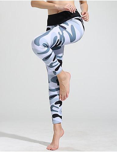 povoljno Vježbanje, fitness i joga-Žene Hlače za jogu 3D ispis Fitness Trening u teretani Biciklizam Hulahopke Odjeća za rekreaciju Prozračnost Ovlaživanje Butt Lift Kontrola trbuščića Visoka elastičnost Uske