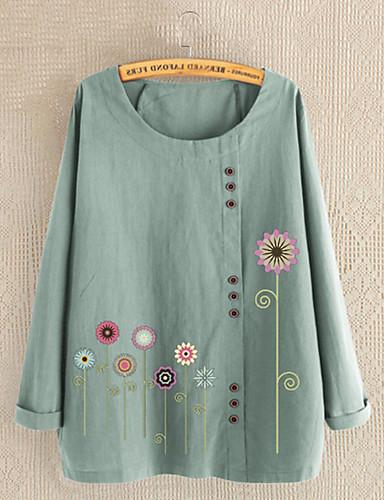 billige Topper til damer-T-skjorte Dame - Geometrisk Svart