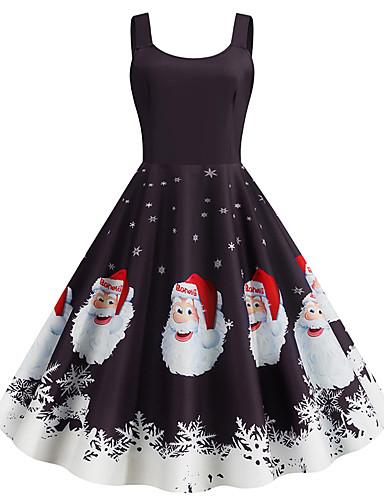 preiswerte Halloween- und Faschingskostüme-Santa Anzüge Kleid Erwachsene Damen Weihnachten Weihnachten Weihnachten Fest / Feiertage Elasthan Polyester Schwarz / Pfirsich / Purpur Damen Karneval Kostüme Weihnachten