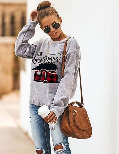 billige Dametopper-T-skjorte Dame - Geometrisk Grå