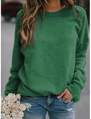 billige T-skjorter til damer-T-skjorte Dame - Ensfarget Grunnleggende Svart