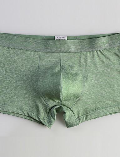 levne Pánské prádlo a plavky-Pánské Základní Boxerky Polyester Středně vysoký pas