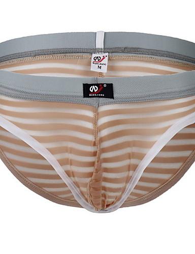 levne Pánské prádlo a plavky-Pánské Základní Slipy Nylon Středně vysoký pas