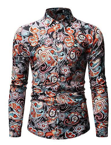 levne Pánské košile-Pánské - Pléd Košile Světle šedá