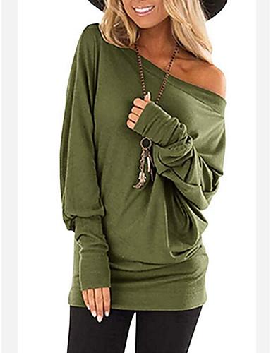 billige Dametopper-T-skjorte Dame - Ensfarget Bohem Svart