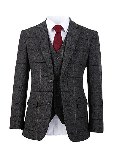 Χαμηλού Κόστους Αντρικά κοστούμια για άντρες-γκρι ταιριασμένο κοστούμι μαλλιού κροσέ