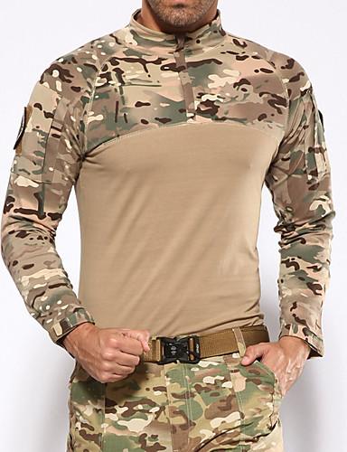 preiswerte Jagd T-Shirts & Hemden-Unisex Jagdhemd Langarm Außen Frühling Sommer Herbst Windundurchlässig warm halten tragbar wärmespeichernde camuflaje Baumwolle Schwarz Braun / Winter