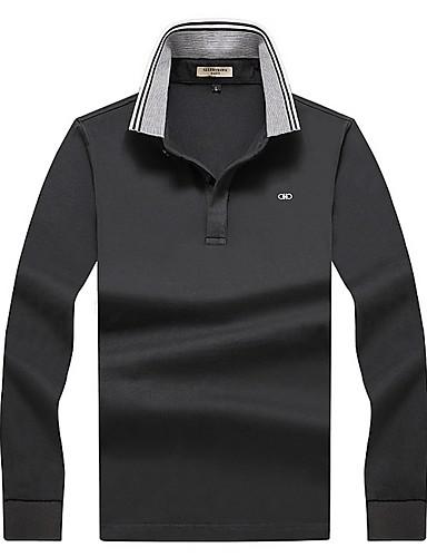 preiswerte Herren T-Shirts & Tank Tops-Herrn Solide T-shirt Schwarz