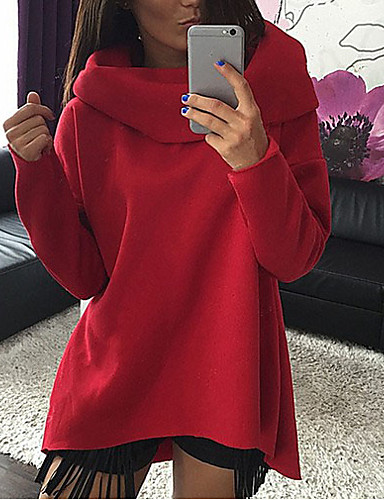 お買い得  レディースフーディー&スウェットシャツ-女性用 ベーシック スウェットシャツ - ソリッド