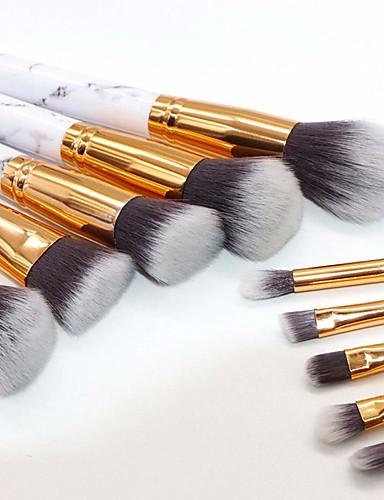 preiswerte Make-up Pinsel-Professional Makeup Bürsten Bürsten-Satz- 10 Stück Umweltfreundlich Professionell Weich Künstliches Haar Marmor / Granit / Plastik Make-up Pinsel zum Rougepinsel Lidschatten Pinsel Make - Up