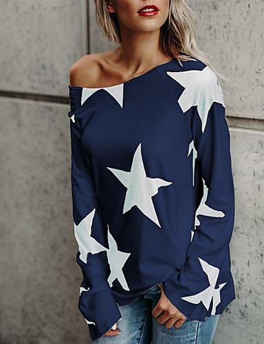 billige Dametopper-T-skjorte Dame - Galakse Hvit