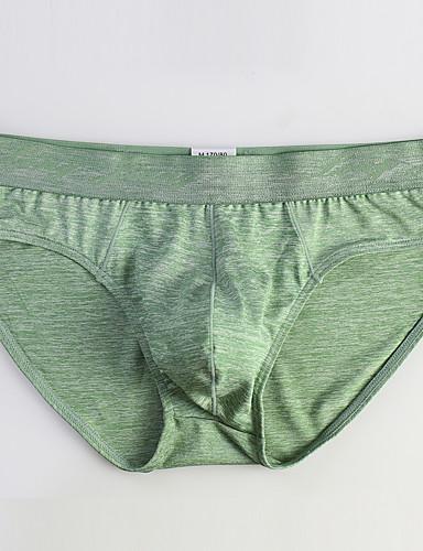 levne Pánské prádlo a plavky-Pánské Základní Slipy Polyester Středně vysoký pas
