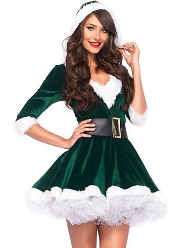 levne Vánoční obchod-Dámské Párty Elegantní A Line Šaty - Barevné bloky, Tisk Nad kolena